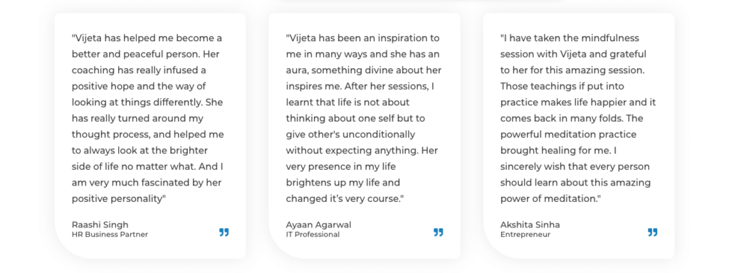 Dr Vijeta sahay testimonials
